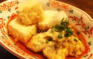 島豆腐とナーベラーの揚げ出し