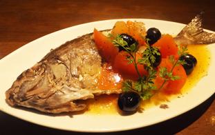 本日の沖縄鮮魚のアクアパッツア